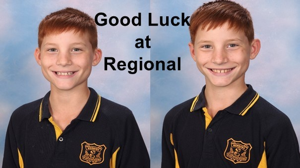 Declan Adams will be representing MCS at the Upper Hunter SSA Regional Champions